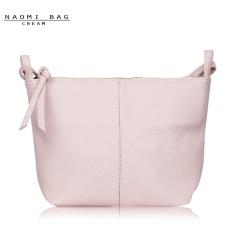 Naomi PU Leather Crossbody Bag Free Mini Pouch / Tas Selempang Wanita - Cream