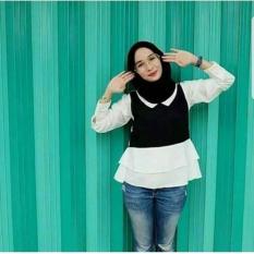Nara Top/Atasan Muslim/Hijabers Remaja Bandung/Baju Muslim Kekinian/Fashion Blogger/Collar Blouse