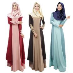 Tren Nasional Abaya Malaysia Indonesia Turki Djellaba Arab Garmen Pakaian Islami Pakaian Dubai Kaftan Muslim Wanita Gaun Panjang-Internasional