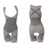 Harga Hemat Natural Bamboo Slimming Suit Baju Pelangsing Abu Abu Ukuran L Xl