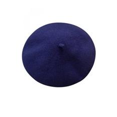 Navy Blue Wool Klasik Paris Artis Beret Hat-Intl