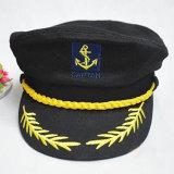 Promo Angkatan Laut Kapten Rumania Pertunjukan Cap Gaya Pelaut Hitam Intl Oem