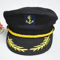 Katalog Angkatan Laut Kapten Rumania Pertunjukan Cap Gaya Pelaut Hitam Intl Terbaru