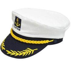 Promo Navy Cap Pertunjukan Kapten Bahasa Romania Gaya Pelaut Sailor Putih Intl Oem Terbaru