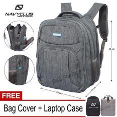 Diskon Navy Club New Arrival Tas Ransel Laptop 5932 Backpack Expandable Upto 15 Inch Hitam Bonus Bag Cover Laptop Case Akhir Tahun