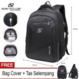 Navy Club Tas Ransel Laptop Tas Pria Tas Wanita Tas Laptop Backpack Built In Usb Charger Up To 15 Inch Anti Air 62062 Hitam Free Bag Cover Free Tas Selempang Promo Beli 1 Gratis 1