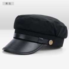 Chaonan Korea Fashion Style corduroy musim gugur perempuan topi topi topi (USA biru tua)