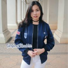 Cara Beli Navy Patch Bomber Lotto