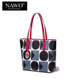 Review Nawo Women S Genuine Cow Leather Fashion Casual Zipper Strap Tote Bag(Clearance Sale) Intl