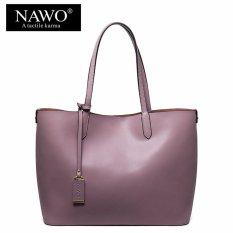 Toko Nawo Wanita Kulit Sapi Asli Handbag Fashion Bag Lavender Intl Termurah