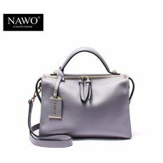 Toko Nawo Wanita Kulit Sapi Asli Handbag Fashion Shoulder Tas Abu Abu Internasional Oem Di Tiongkok