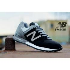 NB 574 Black Grey Sepatu Skate Running Pria Casual Sport