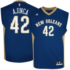 NBA Alexis Ajinca Number 42 New Orleans Pelicans Basketball Jersey Men's Team color Adult Official High Quality Alternate Soft Size XL - intl