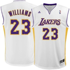 NBA Basketball Jersey Men's Lakers Louis Williams Number 23 Official Breathable Light Soft Authentic Dry Fast Size M - intl