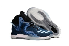 NBA D Rose 7 Boost Basketball Shoes Men's High Help Good Price New Style Sneakers ( Navy Blue )