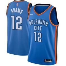 NBA Men's Oklahoma City Thunder Steven Adams #12 Blue Swingman Basketball Jersey - Icon Edition Fashion High Quality Hot - intl