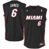 Jual Nba Miami Heat Basket Jersey 6 Swingman Pemain Le Bron James Pria Dewasa Lembut Cepat Kering Ringan Tim Warna Hitam Xxl Intl Tiongkok