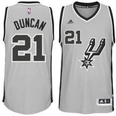 NBA Spurs #21 Tim Duncan 2014-15 Baru Swingman Alternatif Gray Basket Jersey Resmi Pria-Intl