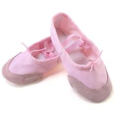 NBJU Tarian Gadis Pelatihan Sepatu Lembut Sole Balet Kulit Head Cat Claw Sepatu Pink-Intl