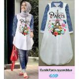 Harga Ncr Baju Atasan Muslim Tunik Paris Blue Di Dki Jakarta