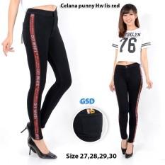 Jual Ncr Celana Jeans Wanita Celana Punny Hw Lis Red Online Dki Jakarta