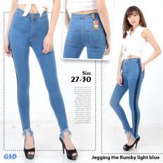 Ncr Celana Jegging Jeans Wanita Hw Rumbi Light Blue Terbaru