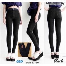 Jual Ncr Celana Jegging Jeans Punny Black 28 Import