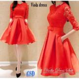 Harga Hemat Ncr Dress Simple Elegant Biola Red