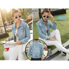 Jual Beli Ncr Fashion Jaket Denim Wanita Jkt Jeans Light Blue