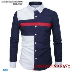 Beli Ncr Fashion Kameja Pria Kameja Magdaleno Navy Secara Angsuran