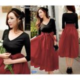 Beli Ncr Mididress Elegant Firly Maroon Kredit