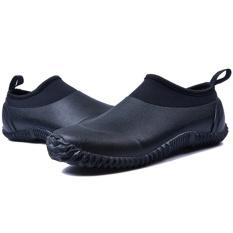 Obral Ndz Tabung Pendek Sepatu Hujan Karet Dangkal Sepatu Hujan Cuci Mobil Sepatu Hitam Intl Murah