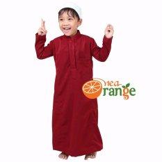 Nea Orange - Gamis Anak Laki - Merah Marun