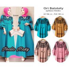 Beli Neala Maxi Baju Gamis Muslim Terbaru Balotelly 4 Color Cicilan