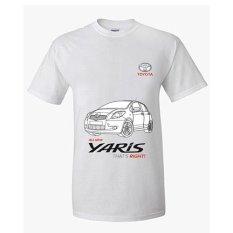 Review Toko Neo Kaos Toyota Yaris Putih