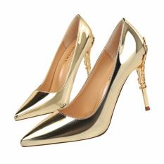 Baru 2017 Musim Semi Musim Gugur Wanita Pompa Sexy Silver High Heels Sepatu Fashion Mewah Pernikahan Pesta Sepatu-Intl