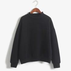 Promo Musim Semi 2017 Baru Hoodies Hangat Sweatshirt Wanita Plus Ukuran Solid Pullover Warna Mode Santai Hoodies Moleton Coat Xl Hitam Intl Akhir Tahun