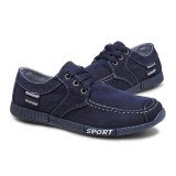 Beli New 2018 Plimsolls Breathable Male Footwear Spring Autumn Mens Shoes Denim Lace Up Casual Shoes Intl Oem