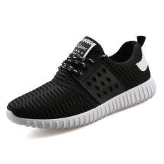 Jual Baru Mens Sneaker Sepatu Korea Sepatu Kasual Rendah Bertumit Sepatu Untuk Pria Hitam Original