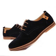 Beli Barang Kulit Asli Pria Baru Sepatu Kasual Pria Bisnis Sepatu Tide Merek Sepatu Casual Pria Plus Ukuran 38 48 Hitam Online
