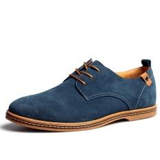 Jual Kulit Asli Pria Baru Sepatu Kasual Pria Bisnis Sepatu Tide Merek Sepatu Casual Pria Plus Ukuran 38 48 Biru Import