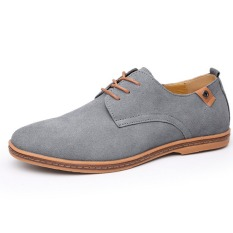 Spesifikasi Kulit Asli Pria Baru Sepatu Kasual Pria Bisnis Sepatu Tide Merek Sepatu Casual Pria Plus Ukuran 38 48 Gray Beserta Harganya