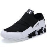Harga Baru Fashion Pria Sepatu Kasual Gaya Tren Baru Mens Athletic Outdoor Putih Hitam Fullset Murah