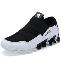 Spesifikasi Baru Fashion Pria Sepatu Kasual Gaya Tren Baru Mens Athletic Outdoor Putih Hitam Murah