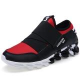 Beli Baru Fashion Pria Sepatu Kasual Gaya Tren Baru Mens Athletic Outdoor Sport Shoes Merah Hitam Online Terpercaya