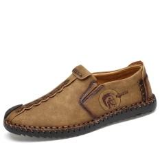 Review Sepatu Kulit Tangan Pria Baru Dan Fashion Sepatu Kasual Sepatu Kerja Outdoor Sepatu Lembut Sol Yang Cocok Pria Handmade Sepatu Kulit Sepatu Santai Outdoor Sepatu Kerja Lembut Yang Sesuai Sol Sepatu Intl Di Tiongkok
