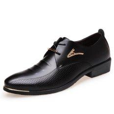 Baru dan Fashion Pria Kulit Sepatu Kerja Sepatu Bisnis Sepatu Sepatu Pernikahan Sepatu Pria-Intl