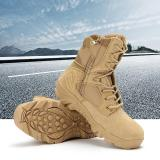 Katalog Baru Army Tactical Desert Mens Leather Combat Boots Militer Shoes Soldier Pasir Intl Oem Terbaru