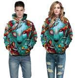 Spesifikasi Baru Kedatangan Hoodeis Wolf Colorful 3D Sweatshirts Pria Wanita Hoodies Dengan Hat Print Wolf Musim Gugur Musim Dingin Loose Thin Hooded Hoody Tops Untuk Boys Girls Pecinta Teman Wolf Intl Oem