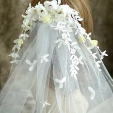 Jual New Arrival Leaves And Flower Bridal Veils Amazing Lovely Wedding Accessories Beach Bohemian Wedding Goods Intl